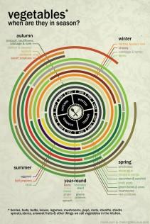 temporada de verduras infográfico