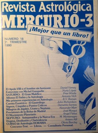 portada mercurio 3 número 18, 1990